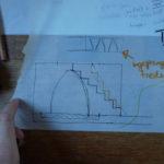 Schetsen van mogelijke indelingen van ons toekomstige tiny house